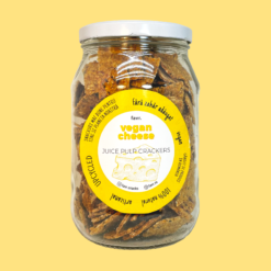 vegan cheese juice pulp crackers eco pack